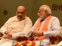 Narendra Modi and Amit Shah at Abhyas Varga