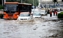 Heavy Rainfall in New Delhi