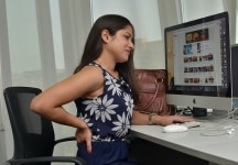 People suffering from back pain due to long sitting hours at office
