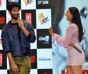 Shahid Kapoor and Kiara Advani during the song launch of Mere Sohneya from their film Kabir Singh