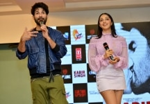 Shahid Kapoor and Kiara Advani at the song launch from their upcoming film Kabir Singh