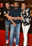 Sunil Shetty  Manish Paul and Bobby Deol clicked during the premiere of film    Bharat