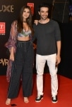 Tara Sutaria and Punit Malhotra clicked during the premiere of film    Bharat