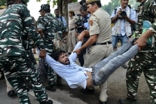 Indian Youth Congress members protest