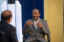 Kailasavadivoo Sivan clicked at Indian Space Research Organisation during interview discussing on launch of Chandrayaan 2