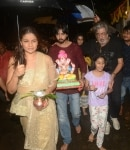 Shraddha Kapoor during the immersion of Lord Ganesha s idol