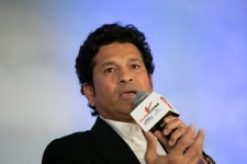 Sachin Tendulkar clicked during interaction at the Salaam Cricket 2019