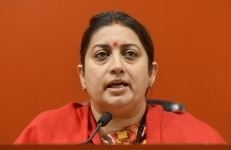 Smriti Irani addresses Media