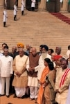Atal Bihari Vajpayee with other members in New Delhi