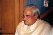 Atal Bihari Vajpayee at office