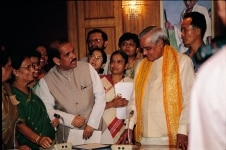 Atal Bihari Vajpayee after a meeting