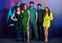 Elli Avram  Anil Kapoor  Aditya Roy Kapur and Disha Patani during the trailer launch of upcoming film Malang