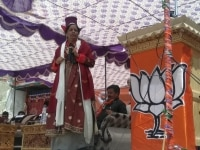 Nirmala Sitharaman at a rally in Leh Ladakh