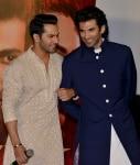 Varun Dhawan and Aditya Roy Kapur at Kalank trailer launch