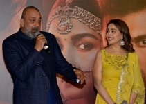 Sanjay Dutt and Madhuri Dixit at the trailer launch of Kalank