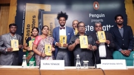 Author  Suraj Yengde during the launch of his book  Caste Matters