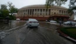 People experienced heavy rainfall on Tuesday