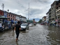 Srinagar city submerged followed by the rains