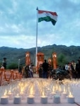 Candle light at Kargil War Memorial