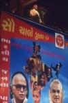 Atal Bihari Vajpayee  Prime Minister addressing a party meet