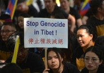 Tibetan activists hold protest against Chinese Government
