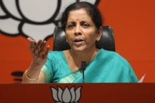 Nirmala Sitharaman during a Press Conference