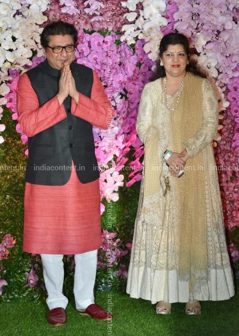 Buy Raj Thackeray and Sharmila Thackeray arrive at Akash