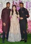 Hardik Pandya  Krunal Pandya and Pankhuri Sharma at Akash Ambani   Shloka Mehta wedding party