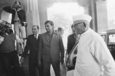 Morarji Desai at Parliament