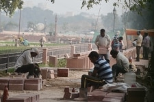 Construction work at National War Memorial  India Gate
