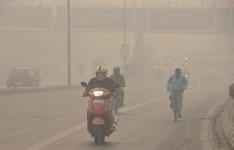 Air pollution in Delhi after Diwali