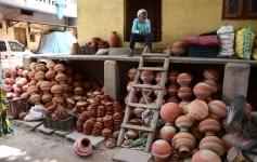 Earthen Pots or Matki Shops