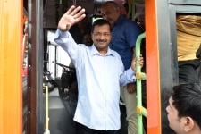 Arvind Kejriwal flags off 100 new ultra modern CNG standard floor buses