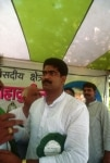 Syed Shahabuddin at a rally