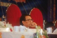 Bal Thackeray at a meeting