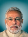 Narendra Modi clicked at his office in Gandhinagar