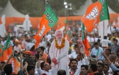 BJP Supporters at Election Campaign