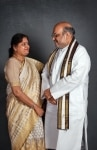 Amit Shah with Wife