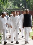 Rahul Gandhi during meeting with Congress Seva Dal