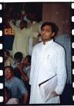 Akhilesh Yadav with his supporters