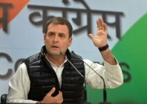 Rahul Gandhi during a press conference