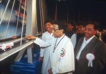 Bal Thackeray clicked inauguration of Bridge in Mumbai
