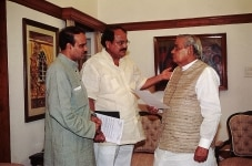 Atal Bihari Vajpayee with Venkaiah Naidu and Ananth Kumar