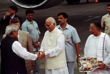L.K. Advani with Atal Bihari Vajpayee