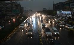 Dust Storm and Rain in New Delhi