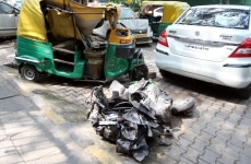Accident near India Gate