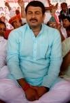 Manoj Tiwari during a protest against Arvind Kejriwal