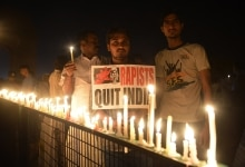 Congress candlelight vigil at India Gate