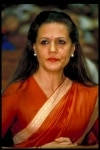 Sonia Gandhi clicked during an event