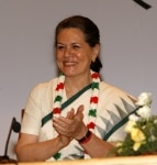 Sonia Gandhi during a meeting in New Delhi